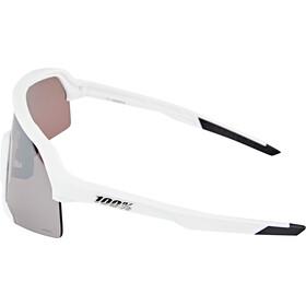 100% S3 Lunettes, matte white hiper silver/hiper mirror